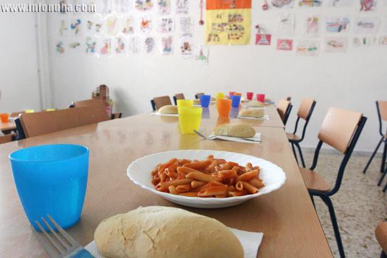 Imagen de un comedor escolar en la provincia de Huelva.
