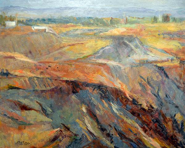 Uno de los cuadros dedicados a la mina de Tharsis