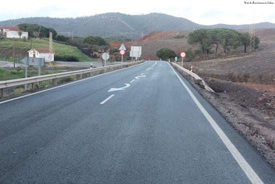 Imagen de la carretera A-461, a su paso por La Dehesa.