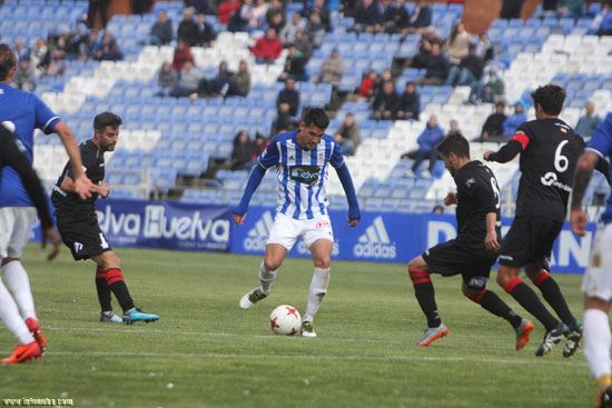 Imagen de un encuentro del Recreativo de Huelva esta temporada en el Nuevo Colombino.