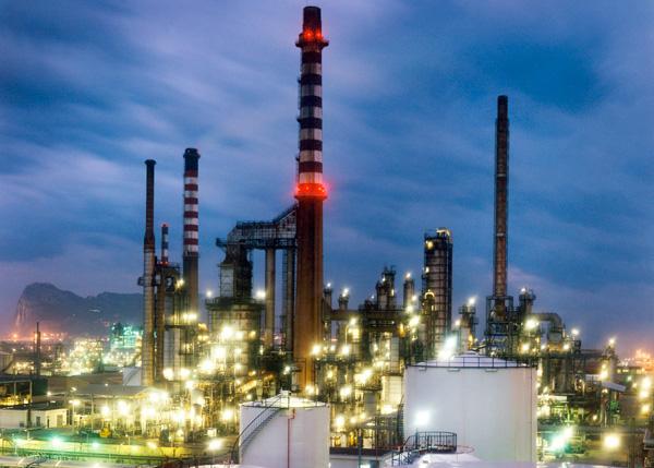 Imagen de la Planta Química Puente Mayorga, situada en San Roque.