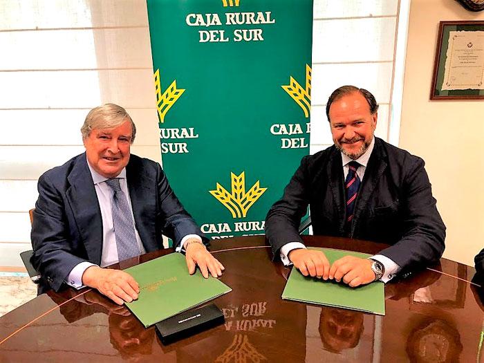Los presidentes de ambas entidades, José Ramón Bujanda y José Luis García-Palacios.