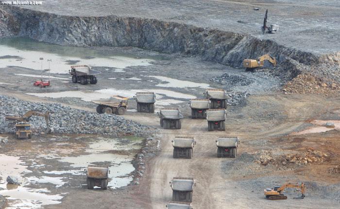 Actividad minera en Riotinto.