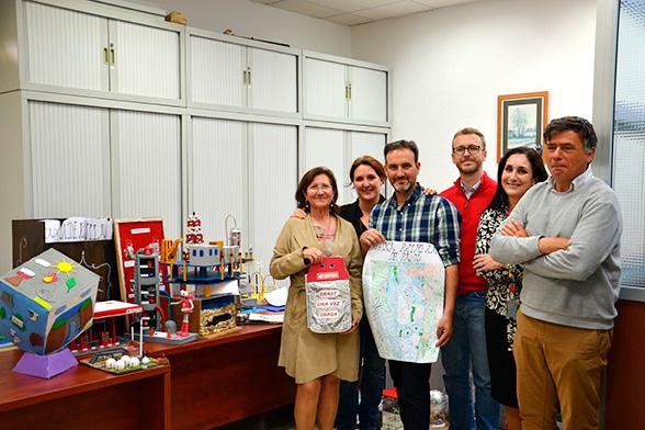 Jurado de la Fundación Cepsa en Huelva que ha reconocido el talento de 29 escolares de la provincia.