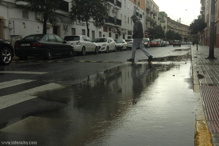 Lluvias en Isla Cristina.