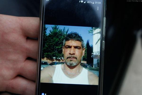Imagen del detenido en un dispositivo móvil.