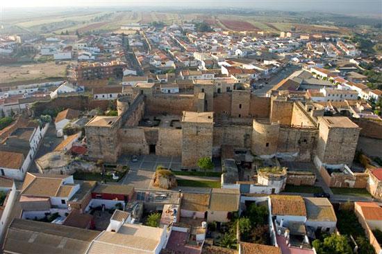 Vista aérea del Castillo de Niebla.
