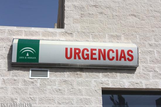 Cartel de urgencias del Hospital Juan Ramón Jiménez