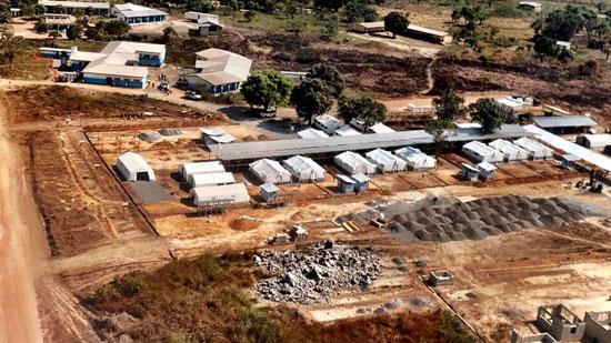 Imagen aérea del nuevo Centro de Tratamiento de Ébola.