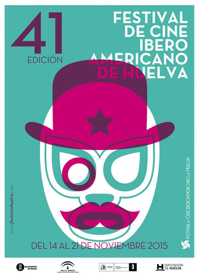 Cartel de la 41 edición del Festival de Cine Iberoamericano de Huelva.