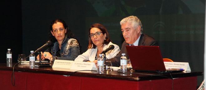 Jerónimo Pérez Parra junto a Josefa González Bayo en la Jornada del Ifapa.