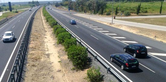 Imagen de la autovía A-49.