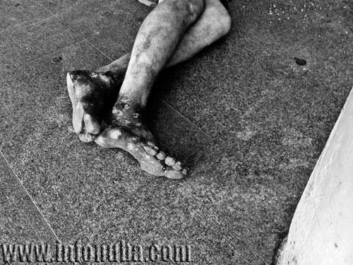 Imagen de un indigente en Sevilla.