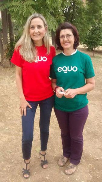 De izquierda a derecha, Isabel Brito y Carmen Molina, coportavoces de Equo Andalucía.