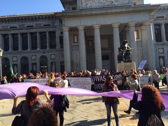 Imagen de la marcha estatal contra las violencias machistas.