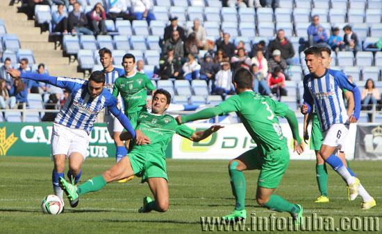 Imagen del encuentro de ida entre el Recreativo de Huelva y el C.F. Villanovense en el Nuevo Estadio Colombino.