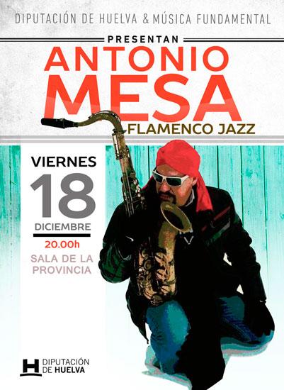 Cartel del concierto de Antonio Mesa.