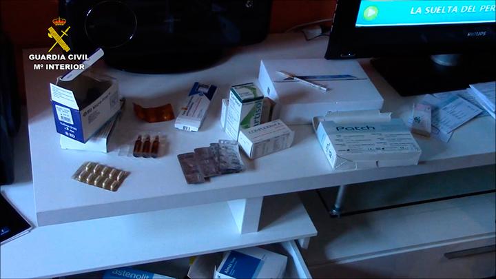 Imagen de los productos incautados en la operación.