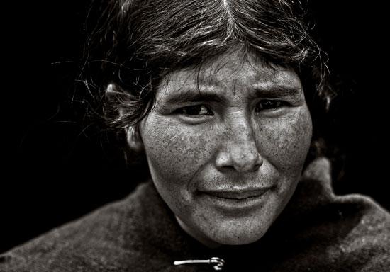 """Una de las imágenes de la exposición """"Rostros Andinos"""", de autor Gabriel Barceló."""