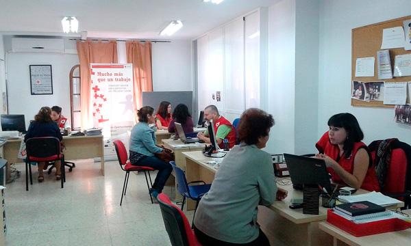 Imagen de las oficinas de Cruz Roja en Huelva.