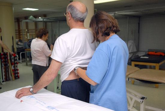 Imagen de una sesión de fisioterapia.