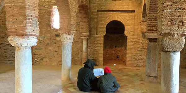 Imagen del interior del Castillo-Mezquita de Almonaster.