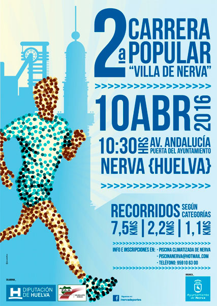 Cartel de 2ª Carrera Popular 'Villa de Nerva'