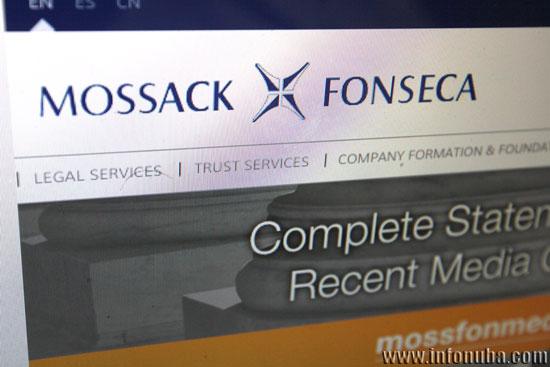 Imagen de la web de Mossack Fonseca.