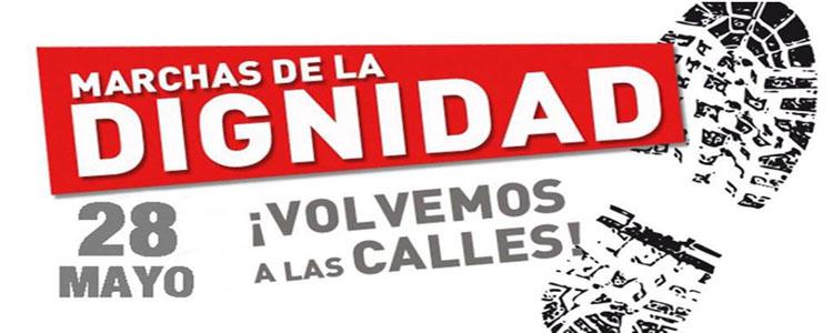 Cartel sobre las Marchas de la Dignidad.