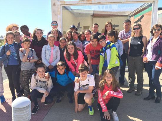 Imagen de una actividad de escolares en el Centro de Recuperación de Especies Amenazadas y de Gestión del Medio Marino Andaluz .
