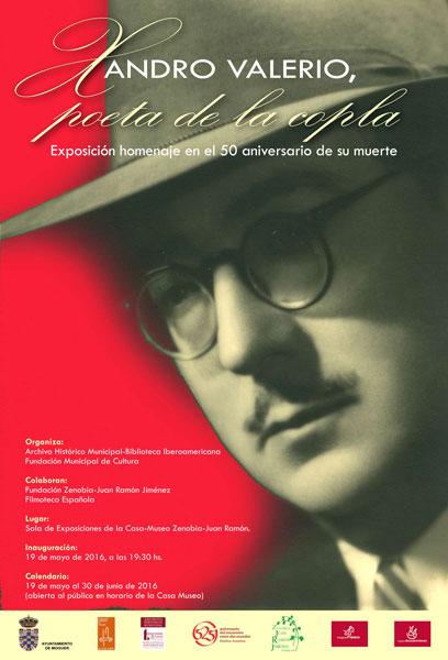 Cartel del homenaje a Xandro Valerio en Moguer.