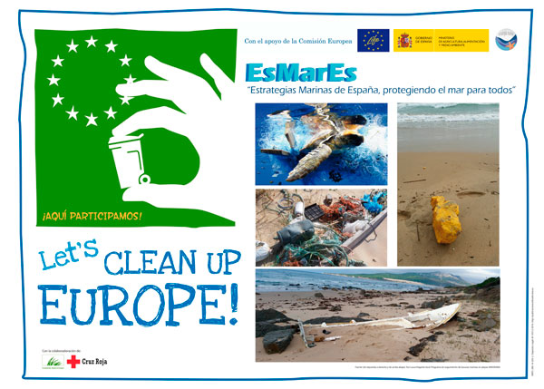 "Cartel de la la iniciativa ""Let's Clean Up Europe""."