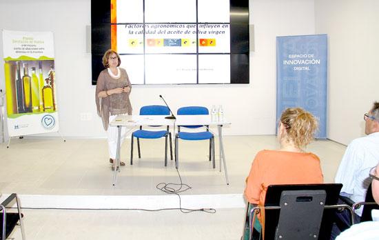 Brígida Jiménez durante su intervención.