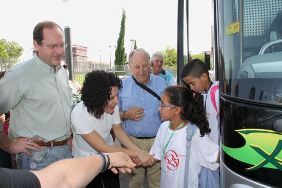 Imagen de la llegada de los niños y niñas saharauis.