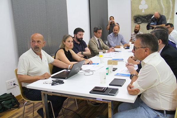 Imagen de la reunión mantenida el pasado jueves.