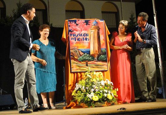 Develado del cartel d elas Fiestas de Mazagón.