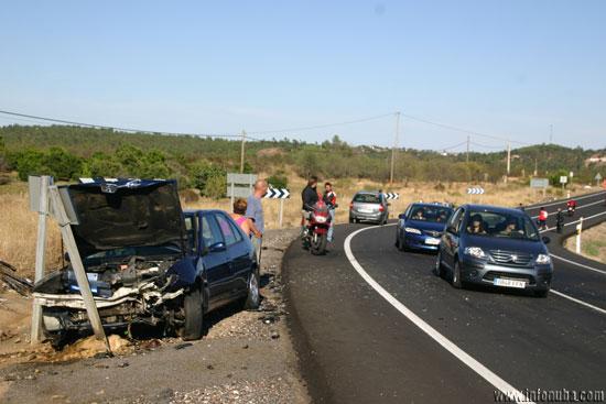 Imagen de un accidente de tráfico en la N-435.