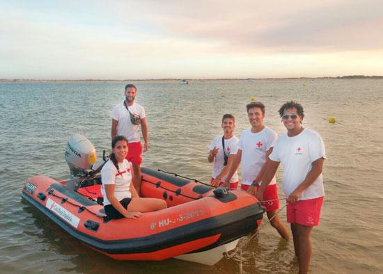 Uno de los equipos de trabajo de Cruz Roja.