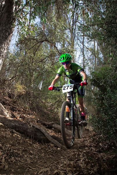 Un ciclista durante una prueba.