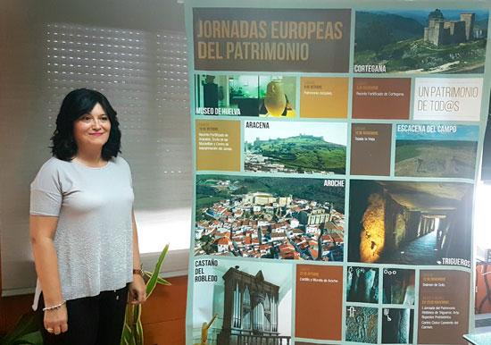 Carmen Solana durante la presentación de las actividades en la provincia de las Jornadas Europeas de Patrimonio.