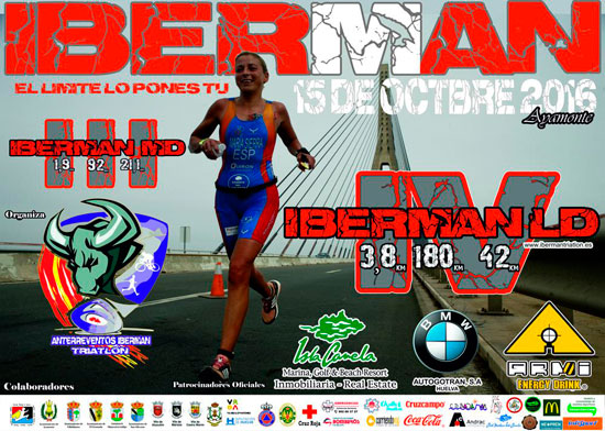 Cartel del Iberman de Triatlón.