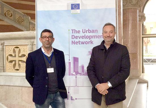Luis Albillo y Manuel Gómez, durante las jornadas de trabajo organizadas por la Red de Desarrollo Urbano