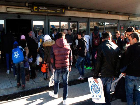 Imagen de la llegada de refugiados (archivo).