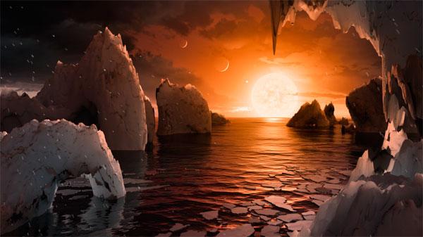 Recreación de uno de los planetas.