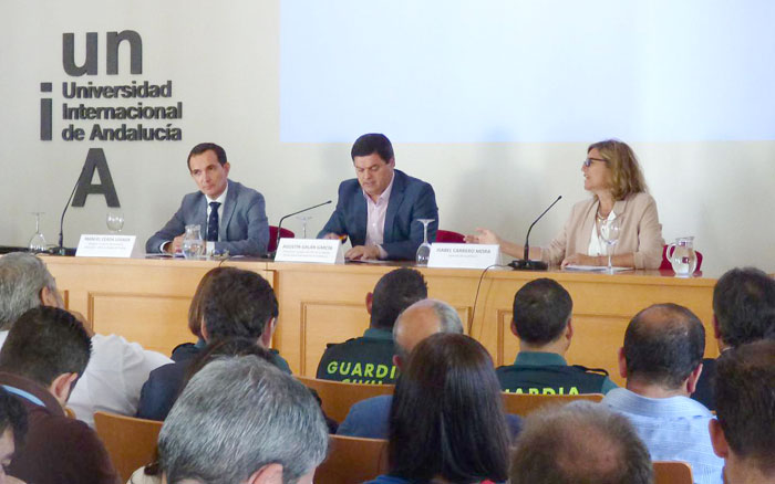 Al acto de inauguración ha asistido el vicerrector del Campus, Agustín Galán; el delegado territorial de Economía, Ciencia y Empleo de la Junta de Andalucía, Manuel Ceada y la gerenta de Qualifica2, Isabel Carrero.
