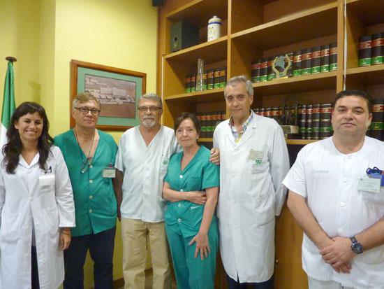 Profesionales de la Unidad de Diagnóstico Prenatal (Servicio de Obstetricia y Ginecología) y de la Unidad de Genética (Servicio de Análisis Clínicos) del Hospital Juan Ramón Jiménez