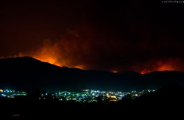 Vista desde el municipio de Nerva.