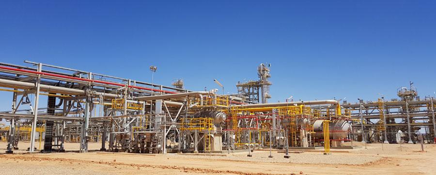 Imagen del campo de gas de Timimoun.