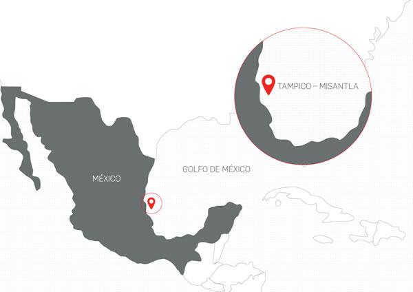 Localización de bloques de exploración y producción de hidrocarburos en México.