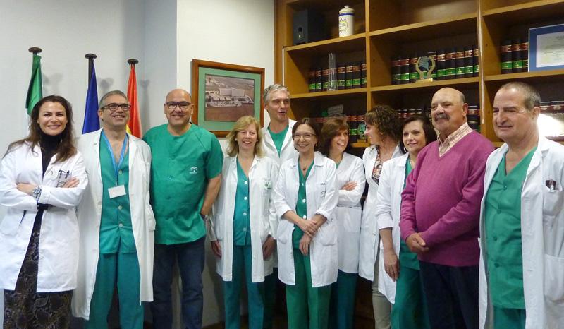 En la imagen, el equipo de profesionales de la Unidad de Arritmias del Hospital Universitario Juan Ramón Jiménez.